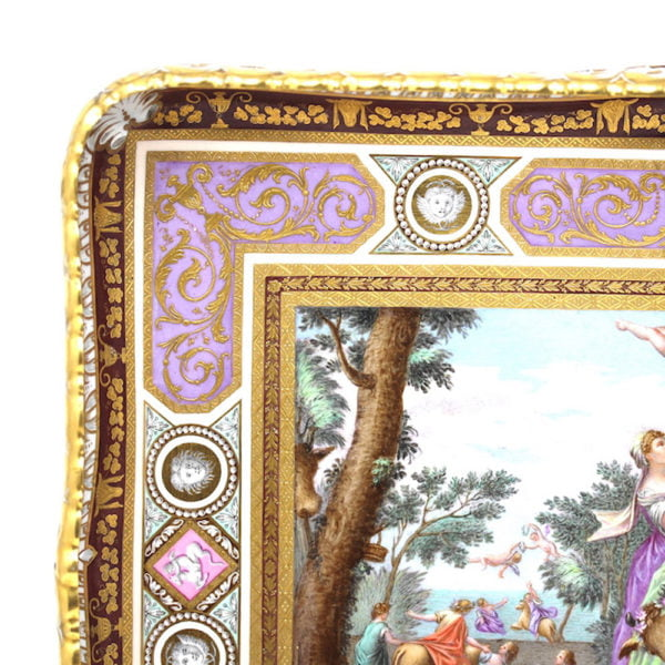 Vienna pierced porcelain tray europa and the bull