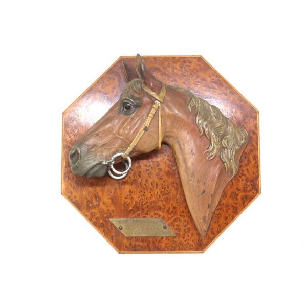 Bronze coronation stakes horse trophy