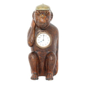 Black Forest Novelty Monkey Clock