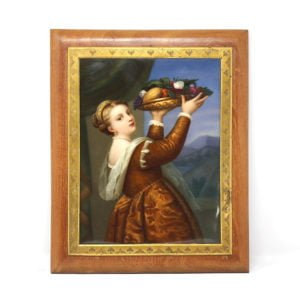 KPM Framed Porcelain Plaque